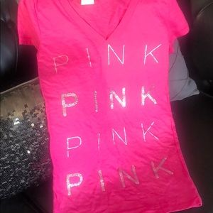 Brand new never worn! vs pink bling tee